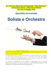 CPB - regolamento Solista e Orchestra - Antonio Cericola